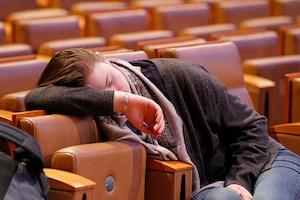 Picture credit: Asleep at COP18 courtesy Arend Kuester/Flickr