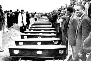 Picture: The Mass Burial of the Victims of the Sharpeville Massacre courtesy Baileys African History Archive