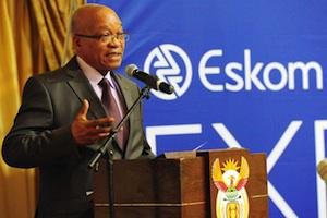 Picture: President Jacob Zuma speaking at an Eskom event, courtesy GCIS