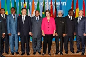 Picture: BRICS heads of states with leaders of African countries courtesy Blog do Planalto/Flickr.