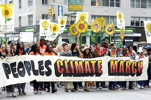 Picture: New York City, Sunday September 21, 2014. In an historic show of strength more than 300,000 climate activists marched through the streets of Manhattan (courtesy Stephen Melkisethian)