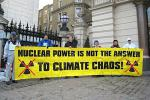 Picture: Anti-nuclear campaigners in London in protest at the industry