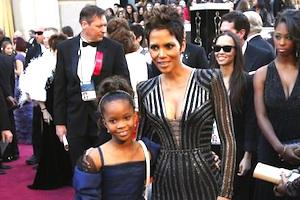 Picture: Quvenzhane Wallis and Halle Berry on the red carpet at the 2013 Oscar awards. Wallis played the lead role in a recent remake of the classic movie