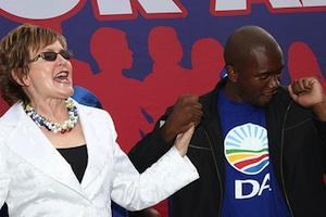 Picture: DA leader Helen Zille and leader of the DA in the Johannesburg City Council Mmusi Maimane courtesy Democratic Alliance/flickr.