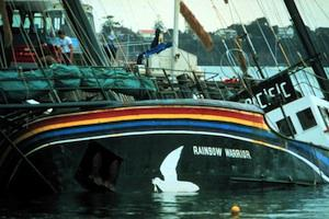 Picture: The Rainbow Warrior that was sunk by French intelligence agents to prevent it from protesting against France
