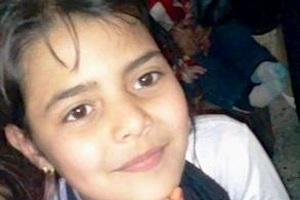 Picture: Hind Shadi Abu Harbied (10) died of a heart attack during a bomb attack on Beit Hanoun on July 14, 2014, courtesy Humanize Palestine.