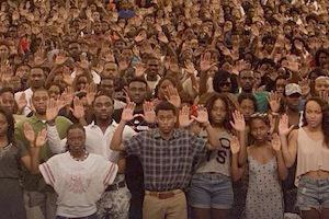 "Picture: Howard University, solidarity with Michael Brown, ""Hand"