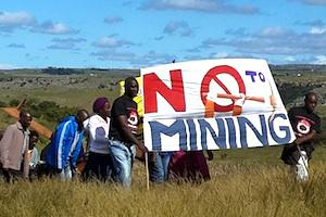 Picture: Anti-Mining Protestors in Xolobeni courtesy United Front