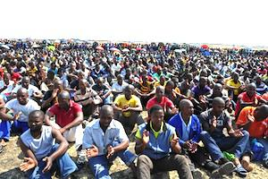 Picture: Platinum belt mineworkers courtesy GovernmentZa/flickr