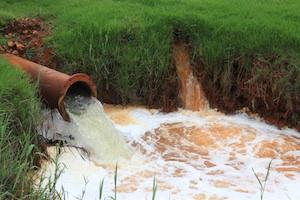 Picture: Discharge of untreated acid mine water in the West Rand courtesy John Wesson/Centre for Environmental Rights.