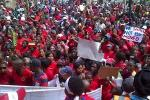 Picture: Thousands march on the Durban City Hall to defend dignity and demand land & housing on 16 September 2013 courtesy Abahlali baseMjondolo.