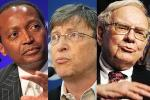 Picture credit: Patrice Motsepe, Bill Gates and Warren Buffett courtesy World Economic Forum and sirenmedia/Flickr.