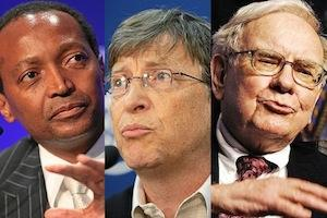 Picture: Patrice Motsepe, Bill Gates and Warren Buffett courtesy World Economic Forum and sirenmedia/Flickr.
