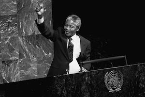 Picture: Nelson Mandela addresses the Special Committee Against Apartheid in the UN