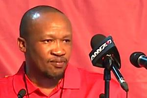 Picture credit: General Secretary of Numsa, Irvin Jim courtesy You Tube screengrab.