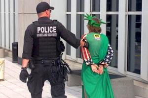 Picture: Anti-Fracking Activist Arrested in Washington D.C. courtesy EcoWatch