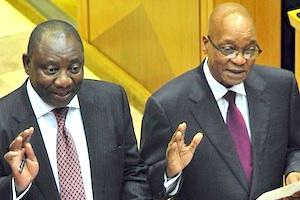 Picture: Deputy President Cyril Ramaphosa and President Jacob Zuma courtesy GCIS/flickr