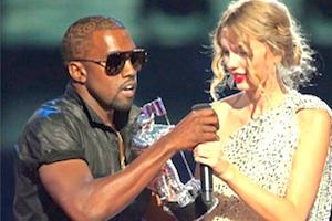 Picture: Kanye West grabs the microphone from Taylor Swift at the 2009 MTV Video Music Awards courtesy Photo Giddy/flickr