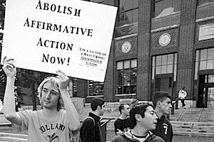 Picture: Affirmative action protest in the U.S. courtesy Americana: The Journal of American Pop Culture