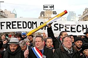 Picture: Charlie Hebdo solidarity march in Brussels courtesy The Interpretor