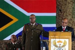 Picture: President Jacob Zuma speaking at the memorial service of SANDF soldiers who died in the Central African Republic courtesy GovernmentZA/Flickr.