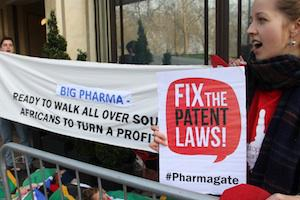Picture: AIDS activists in London demanding an end to big pharma