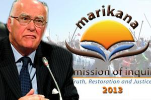 Picture: Ian Farlam, chairperson of the Marikana Commission of Inquiry, courtesy SABC