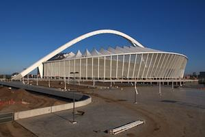 Picture: Construction of the Moses Mabhida Stadium in Durban for the FIFA 2010 World Cup courtesy Simisa/Wikimedia Commons.