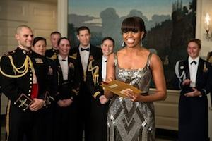 Picture: Michelle Obama announces the Best Picture Oscar to Argo courtesy Pete Souza/United States Government/Flickr.