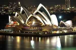 Picture: Sydney Opera House at night by Anthony Winning courtesy Wikimedia Commons.