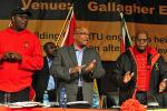 Picture: COSATU Secretary General Zwelizima Vavi, President Jacob Zuma and COSATU President Sdumo Dlamini courtesy GovernmentZA/flickr