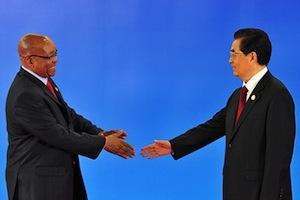 Picture: President Jacob Zuma with President Hu Jintao of China at the third BRICS Summit courtesy GovernmentZA/Flickr.
