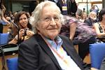 Picture: Noam Chomsky moments before delivering a keynote address at the Deutsche Welle