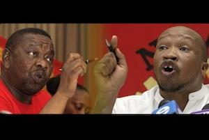 Picture: Blade Nzimande/SACP and Irvin Jim/Numsa