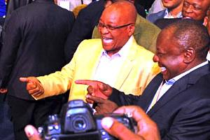 Picture: President Jacob Zuma with ANC Deputy President Cyril Ramaphosa courtesy GovernmentZA/flickr.